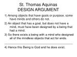 st thomas aquinas design argument