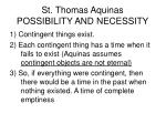 st thomas aquinas possibility and necessity