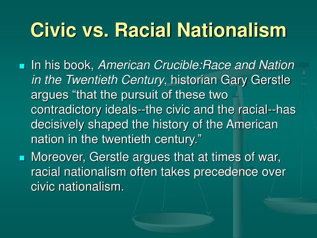 Civic vs. Racial Nationalism