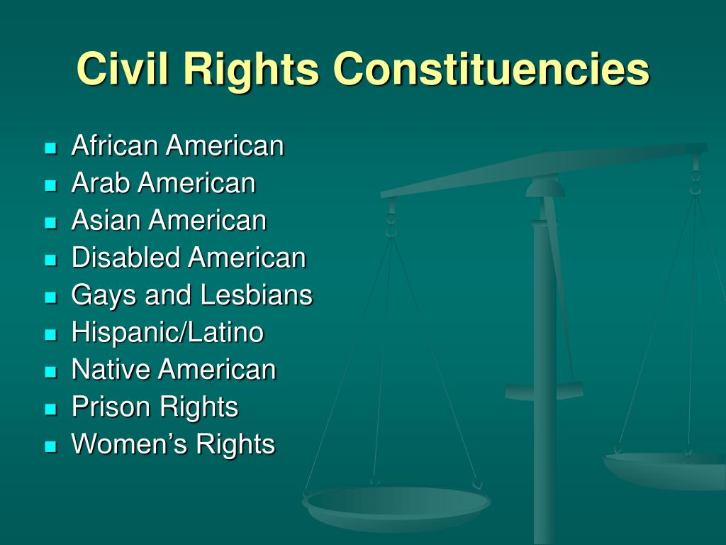 Civil Rights Constituencies