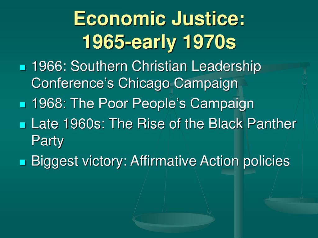 Economic Justice: