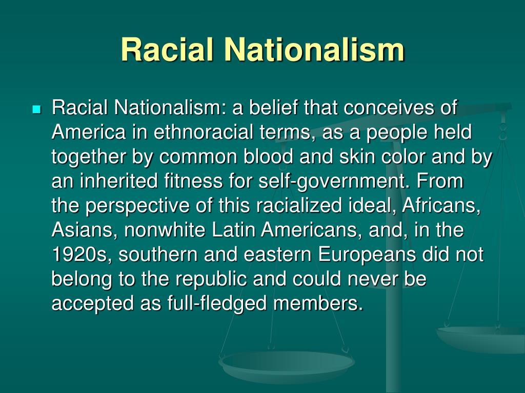 Racial Nationalism