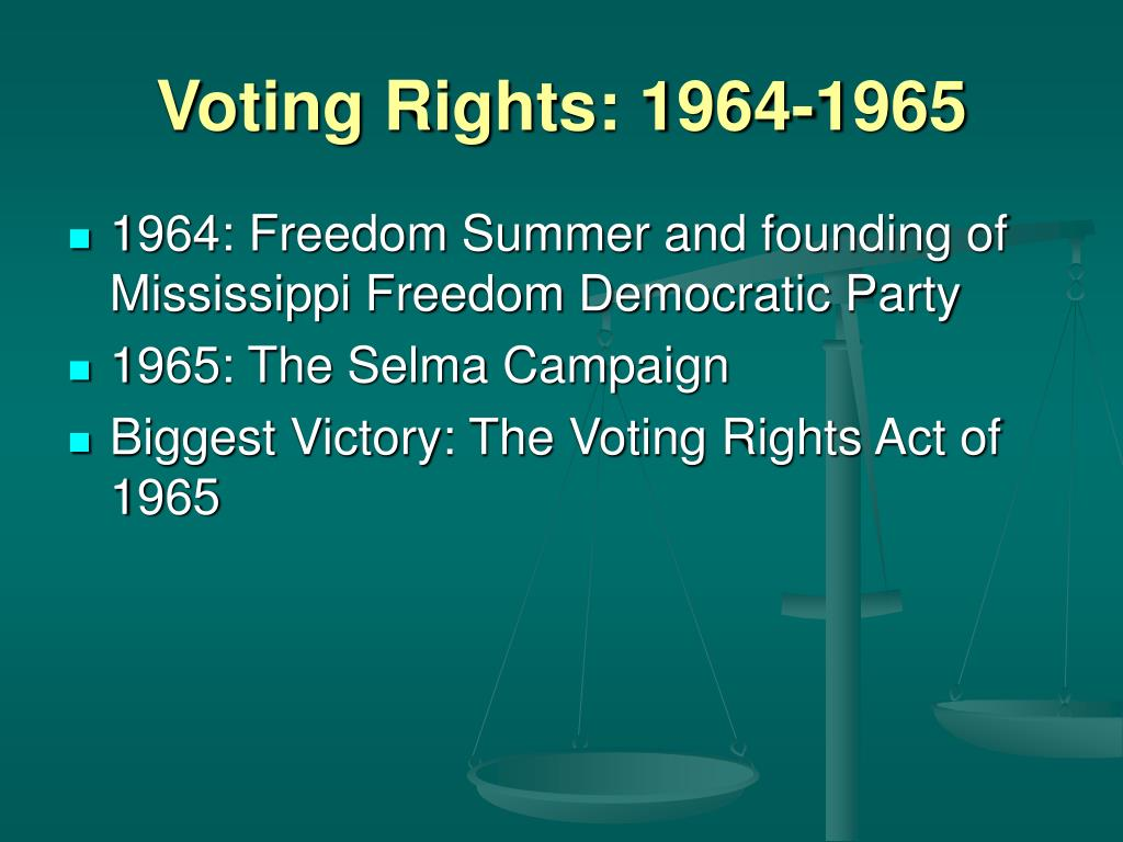 Voting Rights: 1964-1965