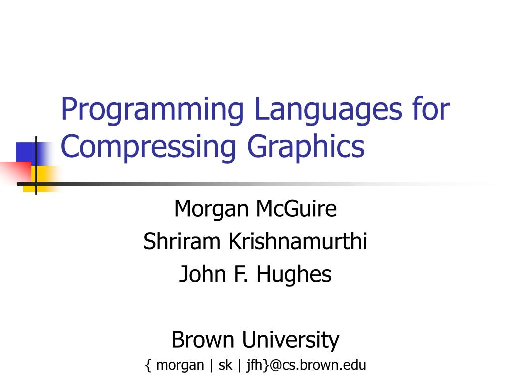 programming languages for compressing graphics l.