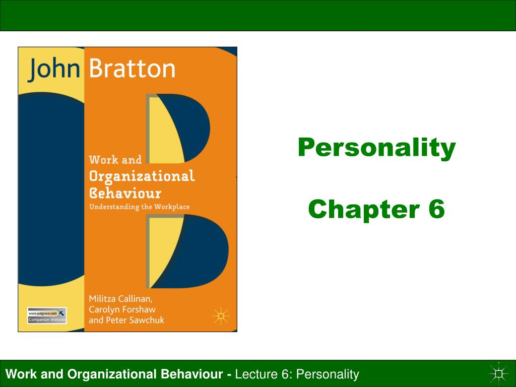 personality chapter 6 l.