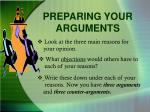 preparing your arguments