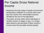 per capita gross national income
