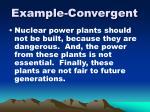 example convergent