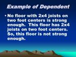 example of dependent