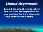 linked arguments