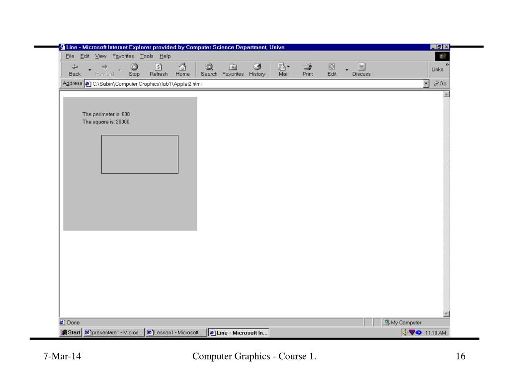 Computer Graphics - Course 1.