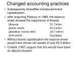 changed accounting practices