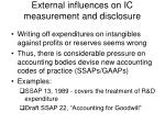 external influences on ic measurement and disclosure