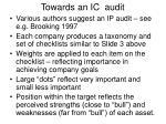 towards an ic audit