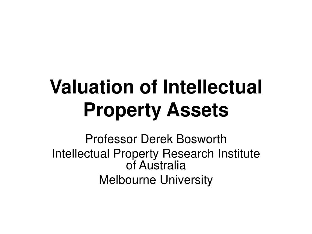 valuation of intellectual property assets l.