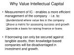 why value intellectual capital