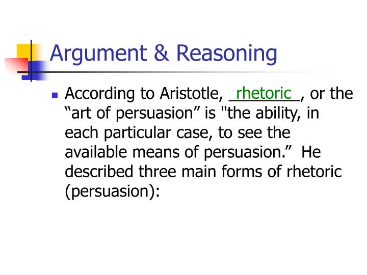 Argument reasoning2