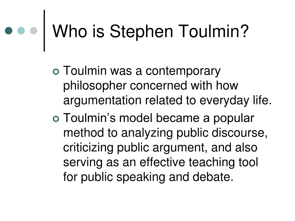 Who is Stephen Toulmin?