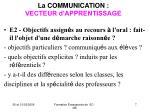 la communication vecteur d apprentissage7