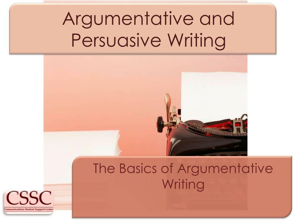 argumentative and persuasive writing l.