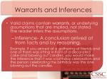 warrants and inferences