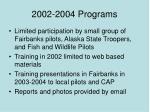 2002 2004 programs