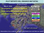 pilot reports will enhance map detail