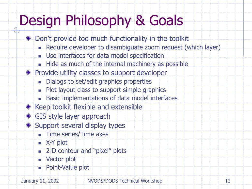 Design Philosophy & Goals