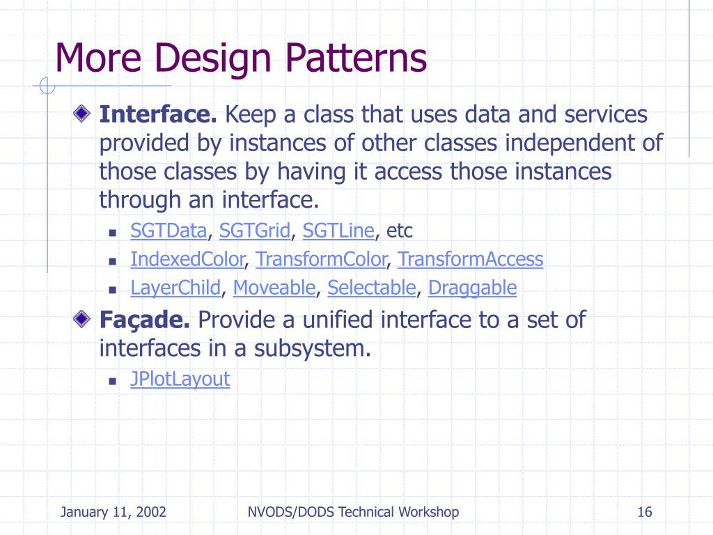 More Design Patterns