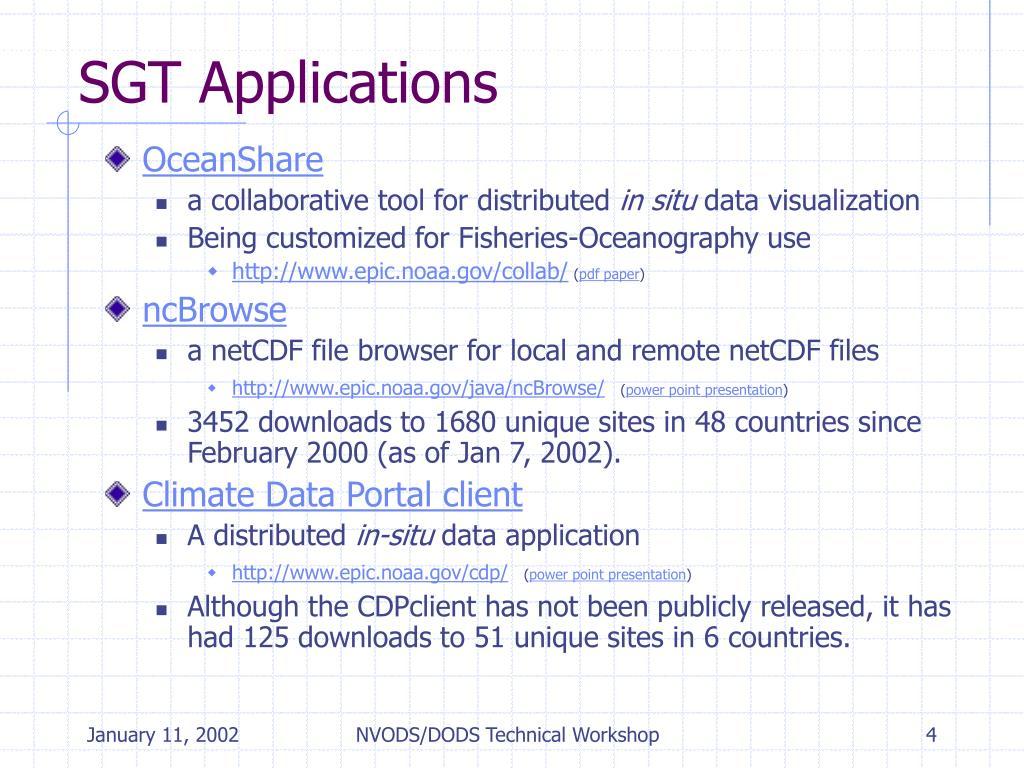 SGT Applications