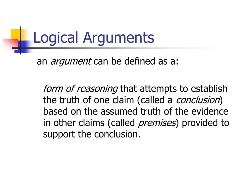 logical arguments l.