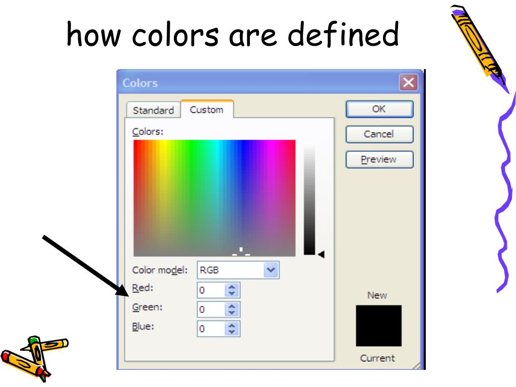 how colors are defined