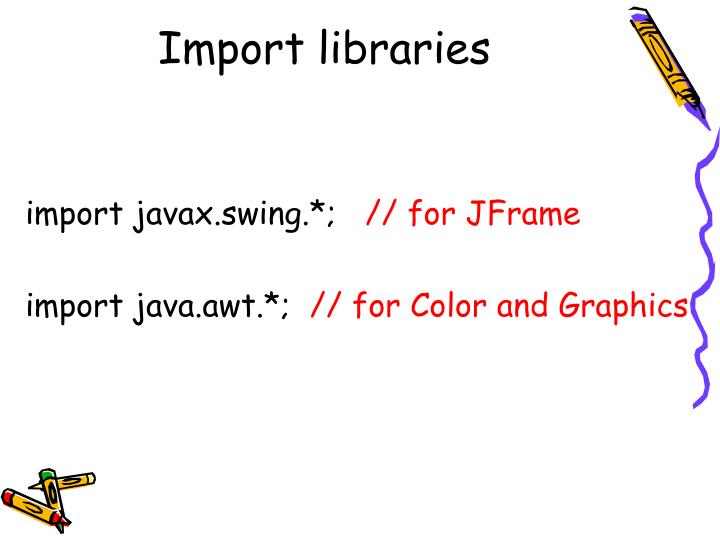 Import libraries