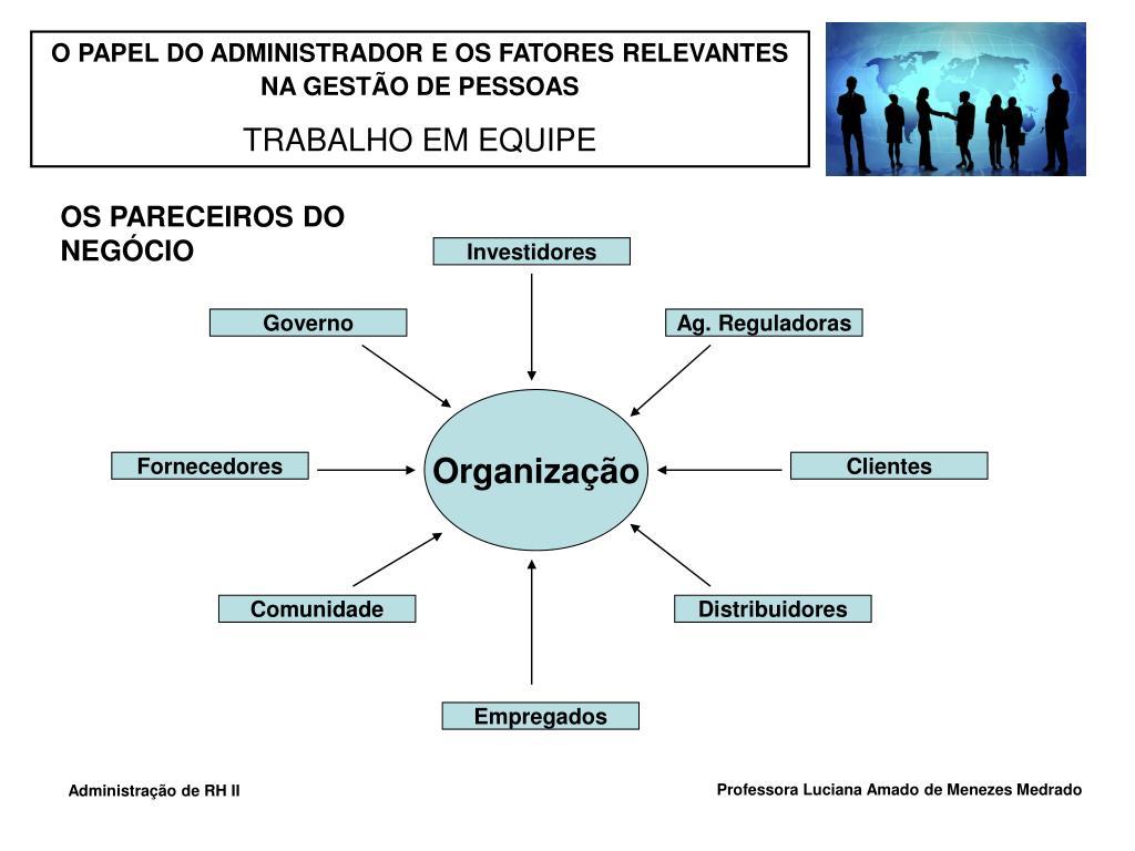 O PAPEL DO ADMINISTRADOR E OS FATORES RELEVANTES NA GESTÃO DE PESSOAS