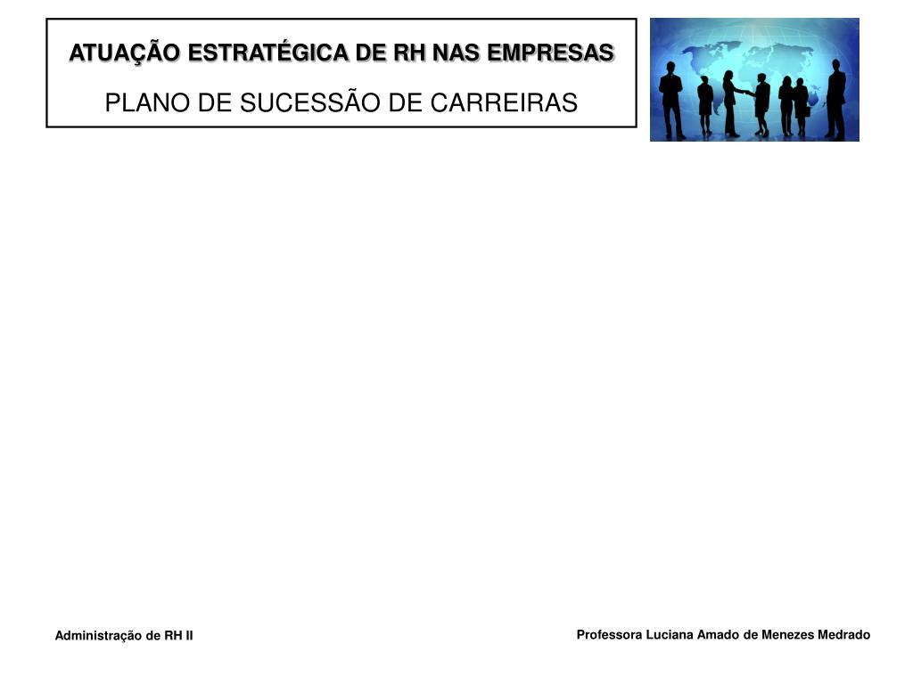 ATUAÇÃO ESTRATÉGICA DE RH NAS EMPRESAS