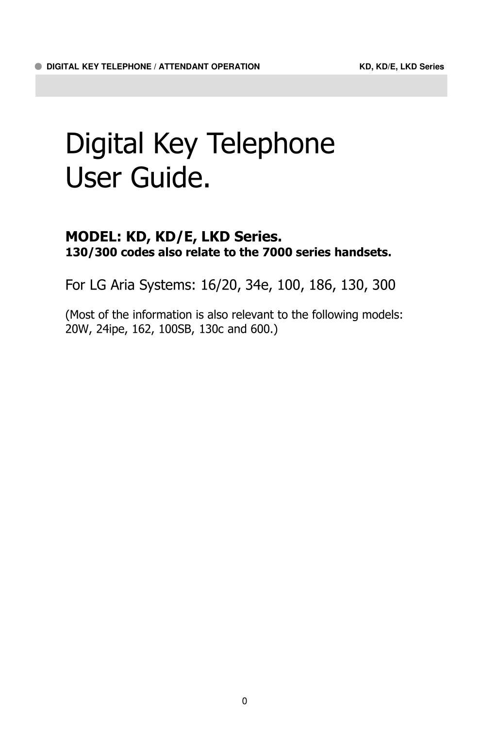 Digital Key Telephone