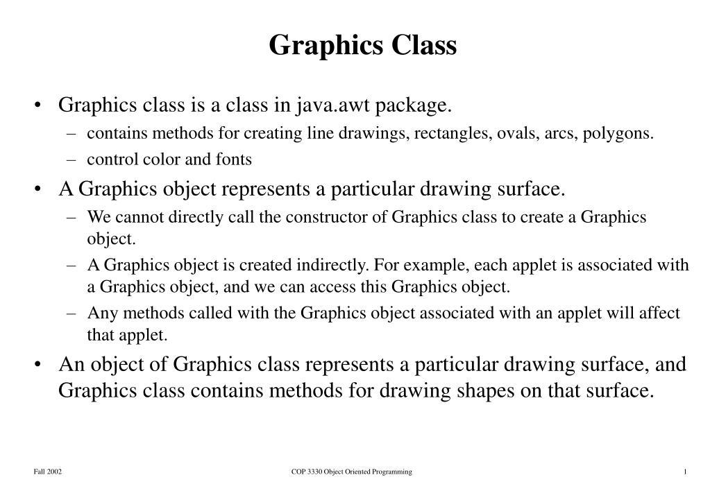 graphics class l.