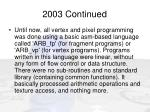 2003 continued12