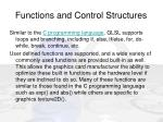 functions and control structures