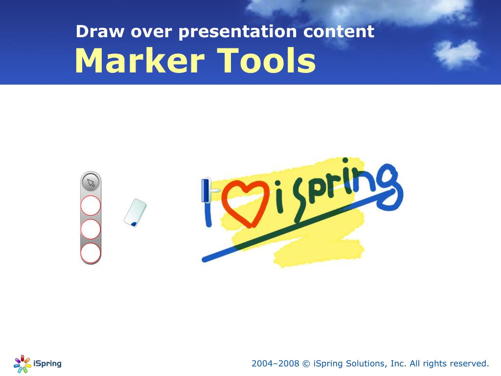 Draw over presentation content