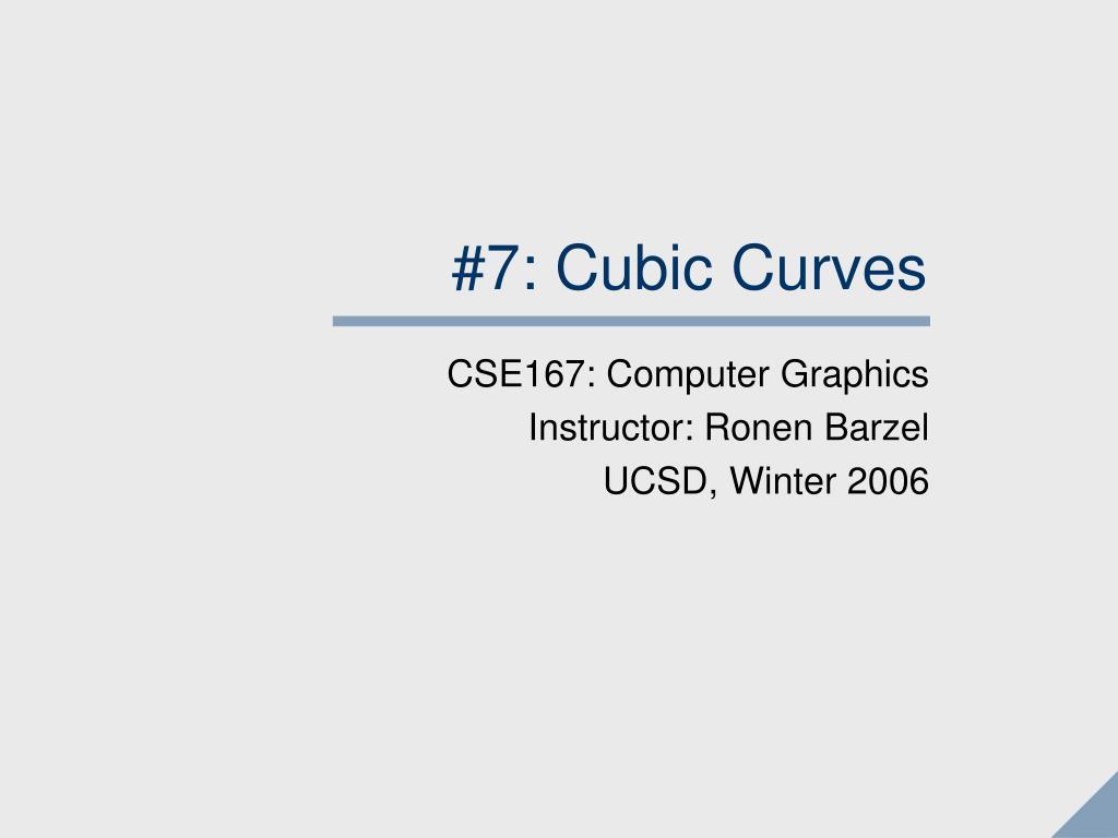 7 cubic curves l.