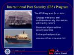 international port security ips program