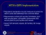mtsa isps implementation