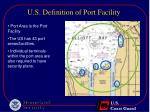 u s definition of port facility