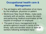 occupational health care management27