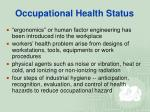 occupational health status7