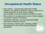 occupational health status8