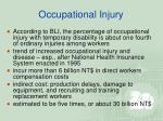occupational injury14