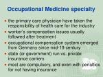 occupational medicine specialty19