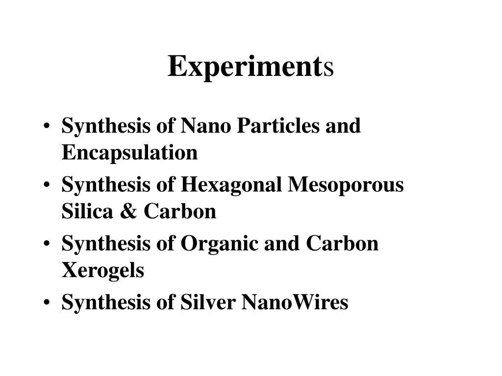 experiment s l.
